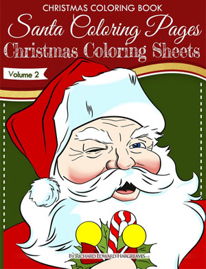 click here to buy printed coloring book christmas coloring book santa coloring pages